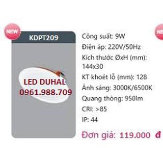 Đèn led panel âm trần 9w – Duhal KDPT209