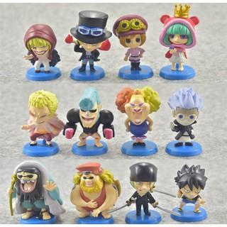 Bộ Đồ Chơi :12 Mô Hình Nhân Vật Trong Truyện One Piece – Mẫu 01