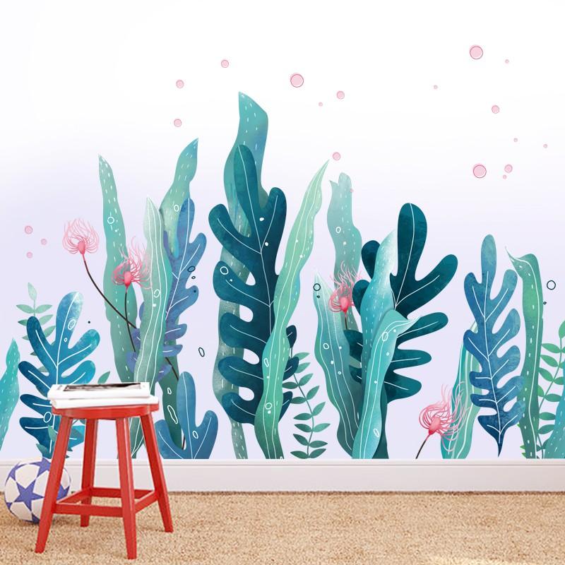 sticker dán tường họa tiết hình thế giới dưới biển dùng trang trí phòng cho trẻ nhỏ