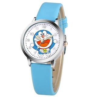 Doraemon Đồng Hồ Đeo Tay Dây Da Mặt Hoạt Hình Dễ Thương Cho Bé
