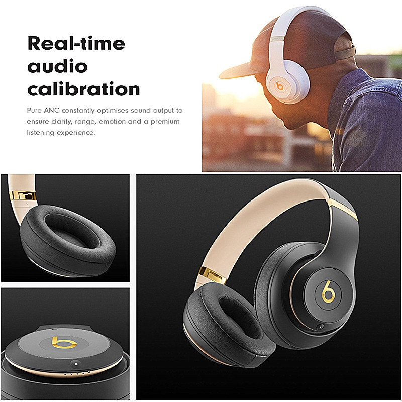 Tai nghe chụp tai không dây bluetooth âm siêu trầm có micro
