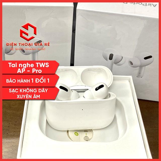 [ĐỊNH VỊ, ĐỔI TÊN] Tai Nghe Bluetooth 5.0 TWS AP PRO (True Wireless Stereo) Giá Rẻ Chất âm tốt, Chống ồn