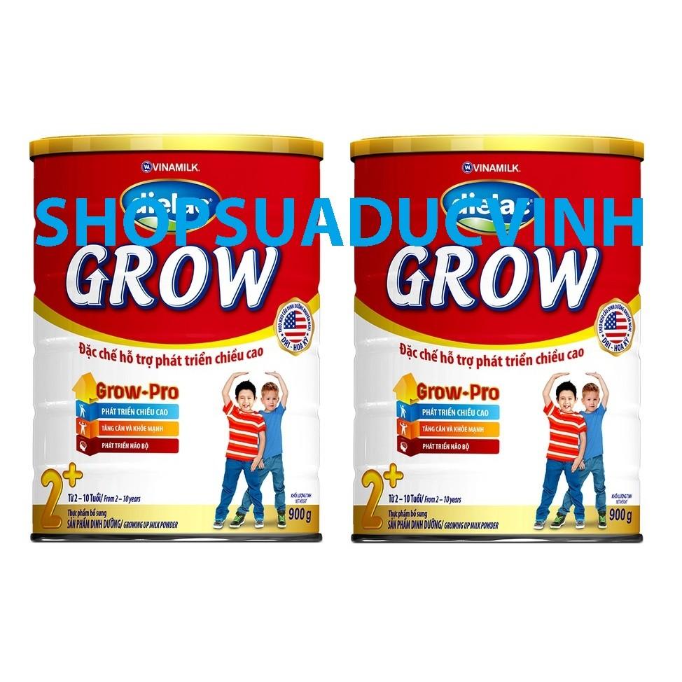 Bộ 2 hộp Sữa bột Vinamilk Dielac Grow 2+ (900g)