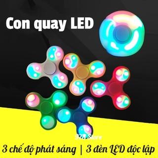 [SALE XẢ HÀNG] Con Quay Giảm Stress Hand Spinner Đèn led| Con quay 3 cánh Fidget Spinner Đèn led | Con Quay 3 cánh led