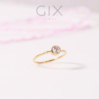 Nhẫn bạc trắng cao cấp mạ vàng nữ đẹp Gix Jewel SPGN23 thumbnail
