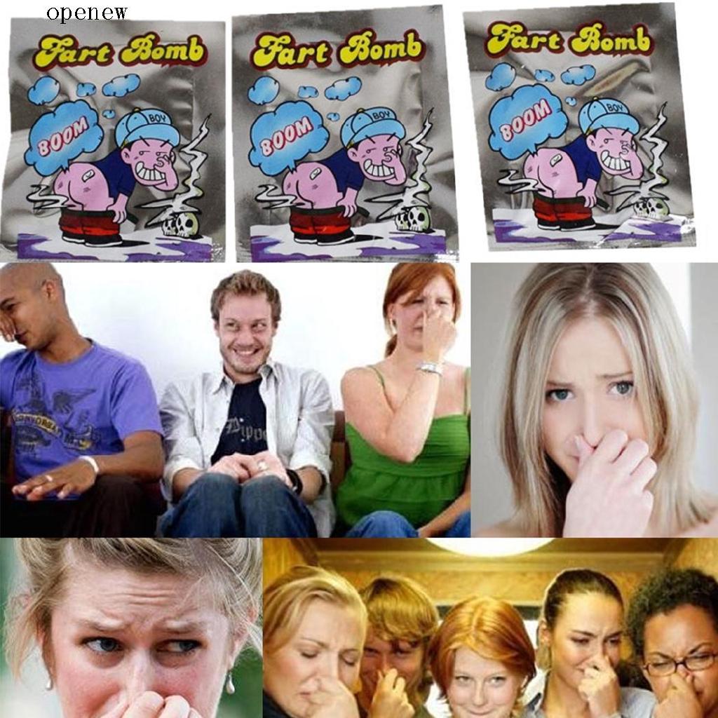 op 1 Piece Bomb Bags Smelly Nasty Sticky Gas Odor Stink Bombs Prank Joke Gag