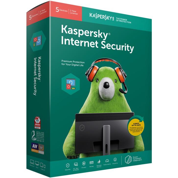 Phần mềm diệt Virus Kaspersky internet Security cho 5PC Giá chỉ 769.000₫