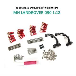 Bộ cùm treo cầu và link kết nối kim loại lắp cho MN LandRover D90 1:12