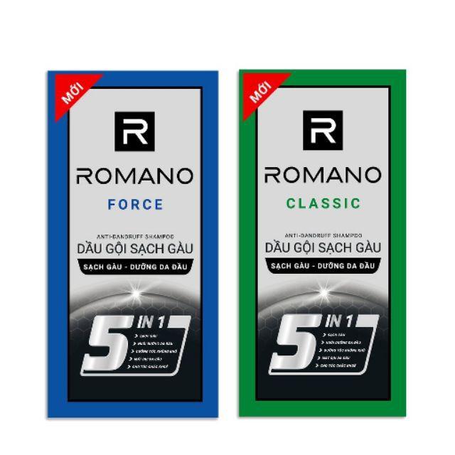 1 gói dầu gội Romano 5g sạch gàu