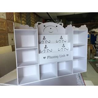 Kệ Sách Gấu Tủ 3 Mới Chứa Đồ Cho Bé PVC Formex Full Bộ Kèm Vít