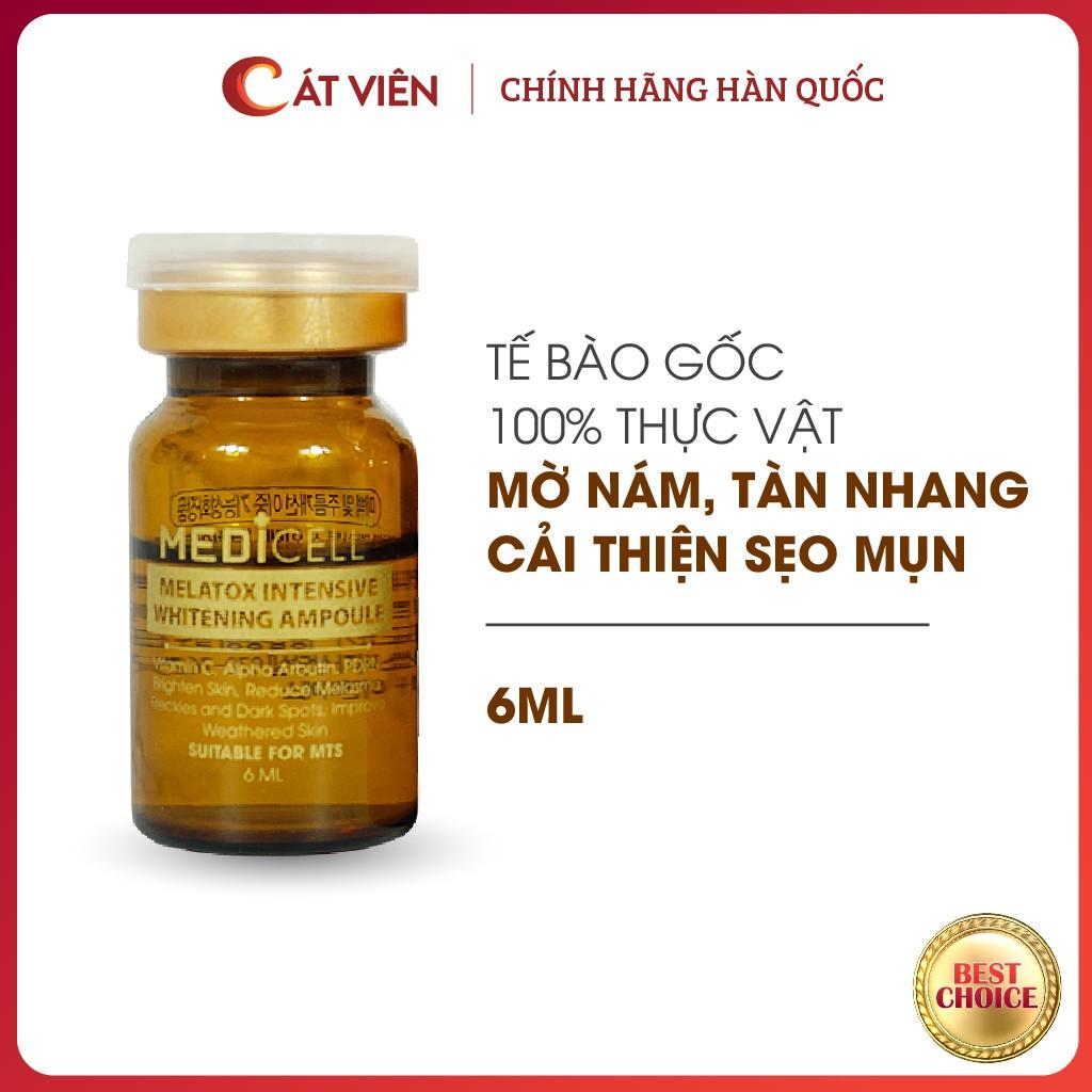 Tế bào gốc, serum mờ nám tàn nhang, thâm sạm, trẻ hóa tái tạo, làm trắng da Melatox Medicell Hàn Quốc 6 ml