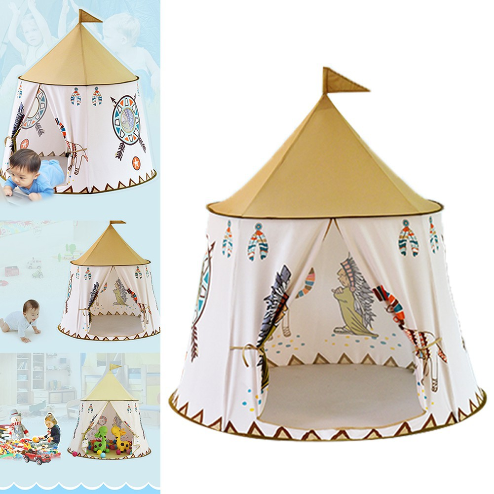 Little Lion Indian Indoor Toy Princess Prince Baby Tent Game House