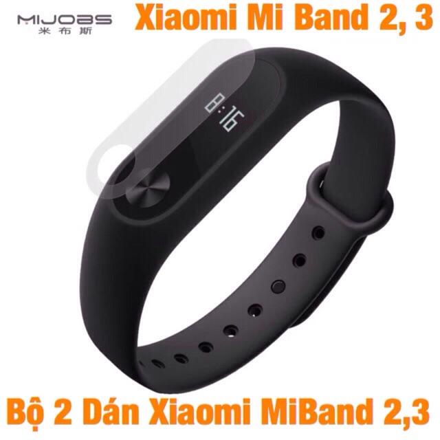 Bộ 2 Dán Màn Hình Xiaomi Mi Band 2 - 3  Chính Hãng MiJoas Miban