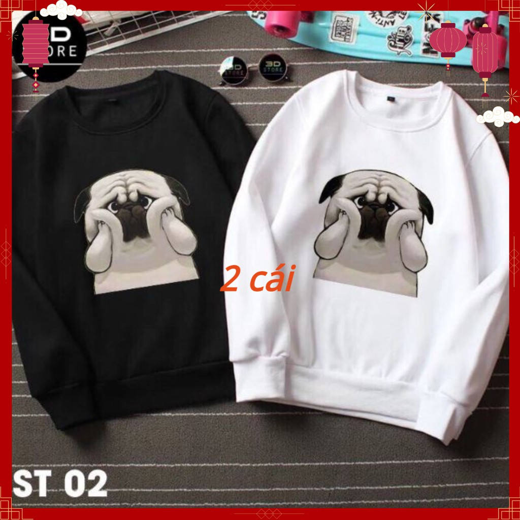 Áo đôi Sweater thu đông nam nữ hình chú cún yêu