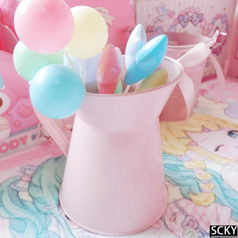 ★Cute watering can Milk Jug pink girl heart desktop decorati