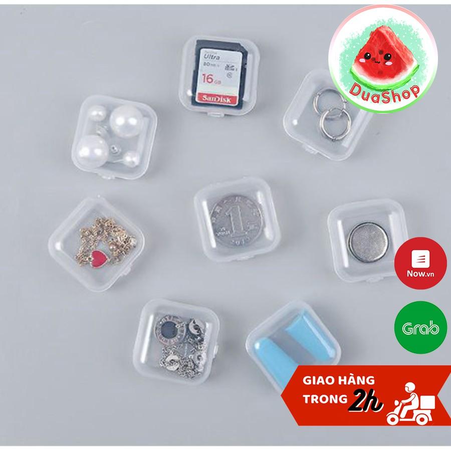 [Set 4 chiếc] Hộp Đựng Trang Sức Mini 3,5*3,5cm 🍉Duashop🍉
