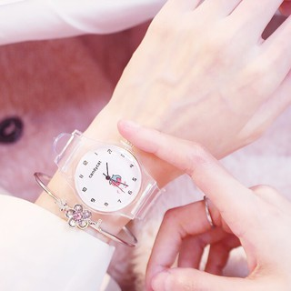 (Giá sỉ) Đồng hồ thời trang nữ Candycat dây nhựa trong suốt