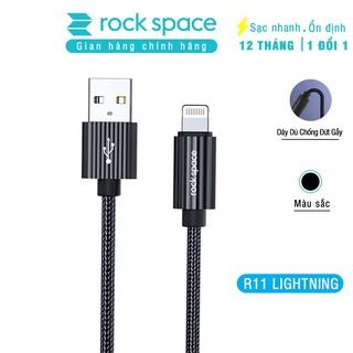 Dây cáp sạc nhanh cho iphone Rockspace R11 chuẩn lightning, dây dù chống đứt gẫy hàng chính hãng bảo hành 12 tháng thumbnail