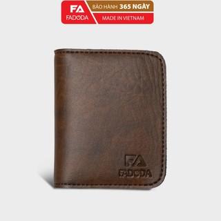 Ví sen gập đôi mini unisex FADODA FVN01 đựng thẻ và tiền - Bảo hành 1 năm thumbnail