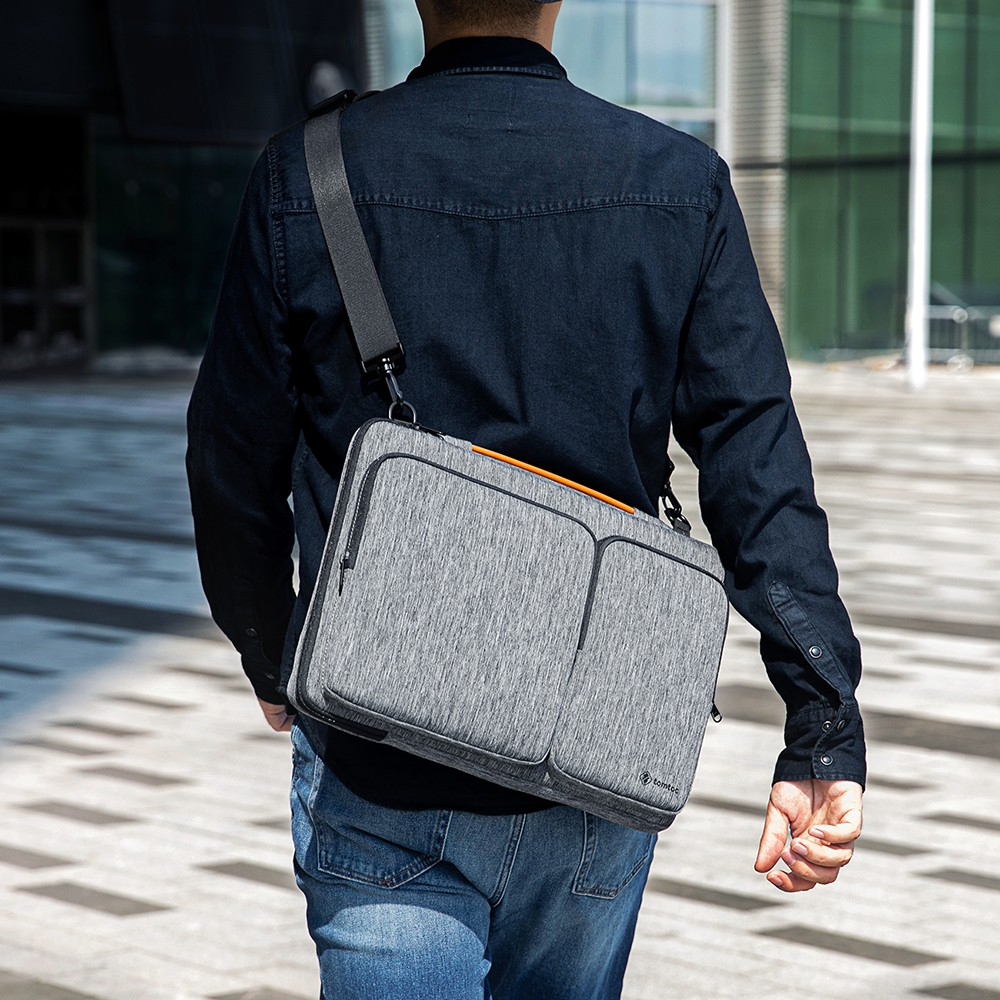 Túi đeo Tomtoc 360* Shoulder Bags Macbook 13/15' A42 MÀU ĐEN/ ĐỎ/ XANH TÍM THAN/ XÁM