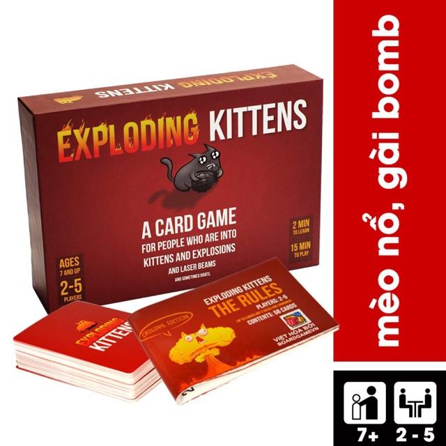 Trò Chơi Boardgame Mèo Nổ - Exploding Kittens