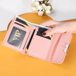 Hình ảnh Ví nữ thời trang ngắn cầm tay mini đẹp MADLEY cao cấp nhiều ngăn nhỏ gọn bỏ túi VD220-3