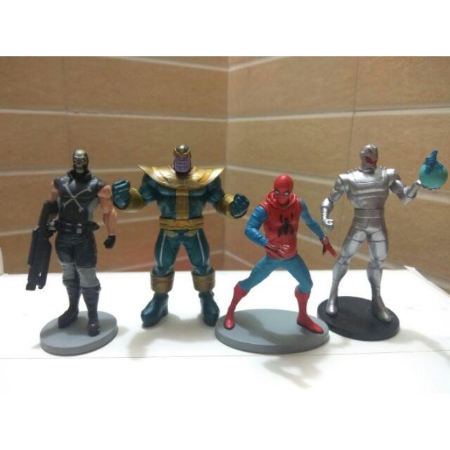 Set mô hình Spiderman- Người nhện và ác nhân Marvel Thanos