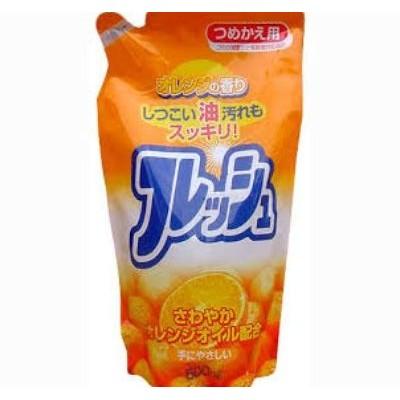 Nước rửa chén hương cam loại túi 500 ml Rocket Hàng Nhật