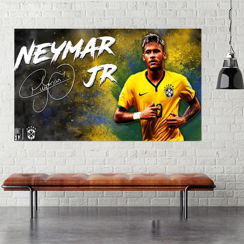 Decal dán tường các cầu thủ bóng đá neymar ramos torres salah bale modric