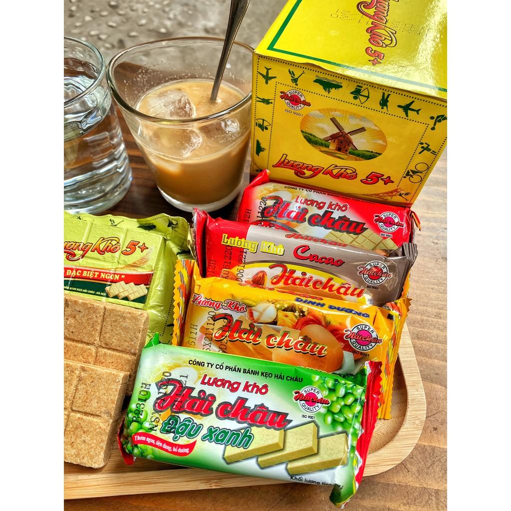 Bộ 20 gói lương khô 65Gr Hải Châu đủ vị ( Tổng hợp, ca cao, dinh dưỡng, đậu  xanh)