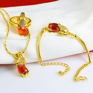 Combo dây chuyền, lắc tay, nhẫn tỳ hưu đính đá sang trong cao cấp ANTA Jewelry ATJ5518-F