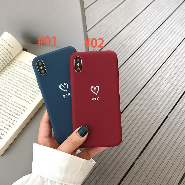 Bao da nhựa mềm hoạ tiết trái tim cho IPhone X 6 6S 7 8 6Plus 6SPlus 7plus 8plus