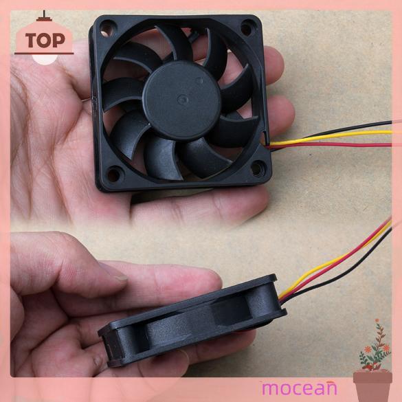 Quạt Tản Nhiệt Mocean 60x60 X 15mm 3 Pin 12v Màu Đen Chuyên Dụng Cho Máy Tính