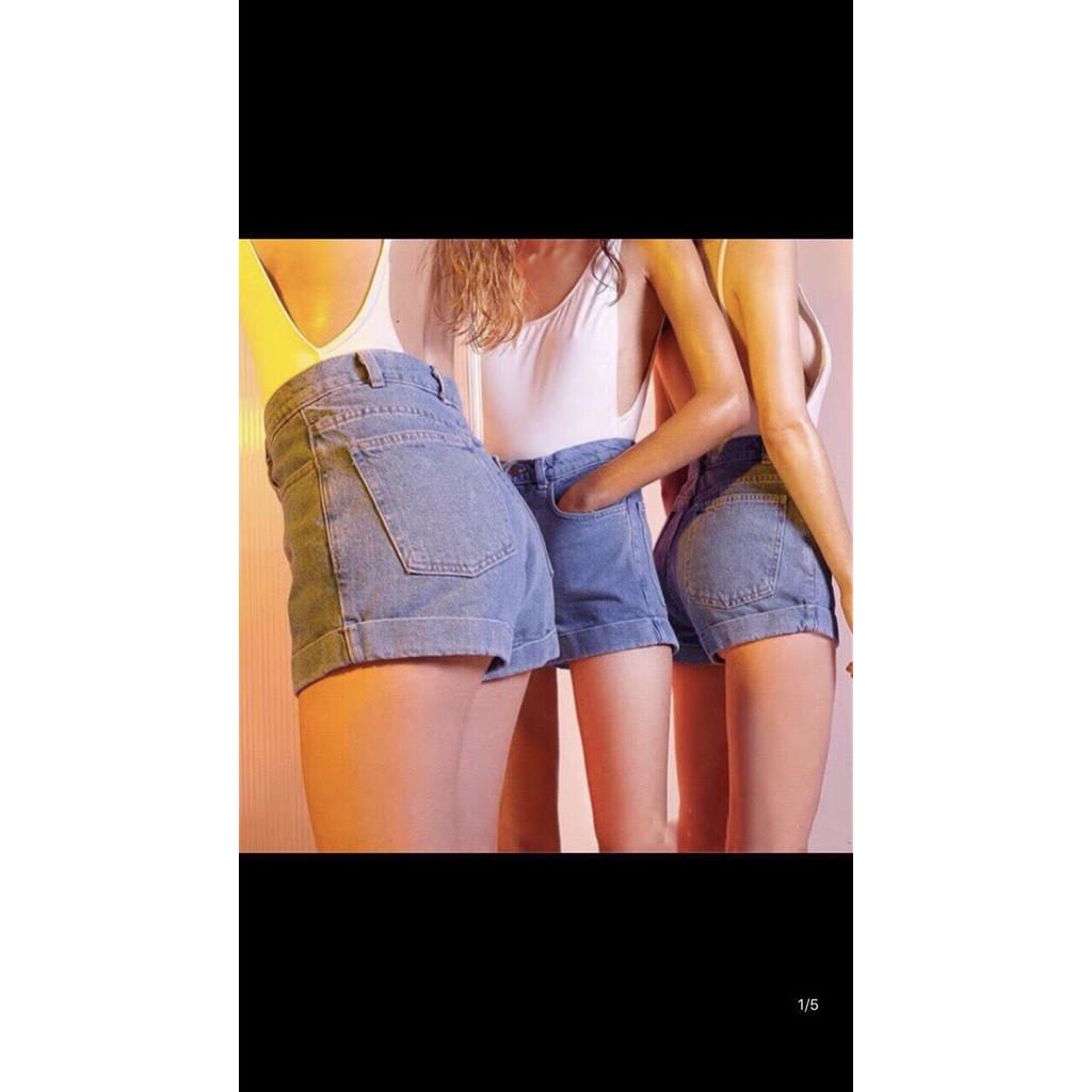 Quần sort jean lưng cao đơn giản Form lưng cao chuẩn đét, mặc áo nào cũng xênh nha. Mix ti...