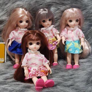 Style 1_Búp Bê Luli 12 Khớp 16 cm – BJD 1/8 Mắt 3D Nude Mini Dolls 2019