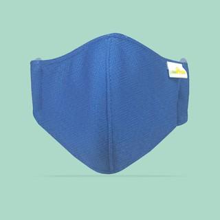 Combo Khẩu Trang Vải 3 lớp Kháng Khuẩn - Chống Thấm AMPRIN màu CLASIC BLUE (2 cái)