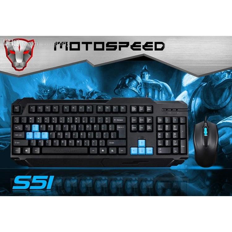 bộ phím chuột motospeed S51 - tem bảo hành AD