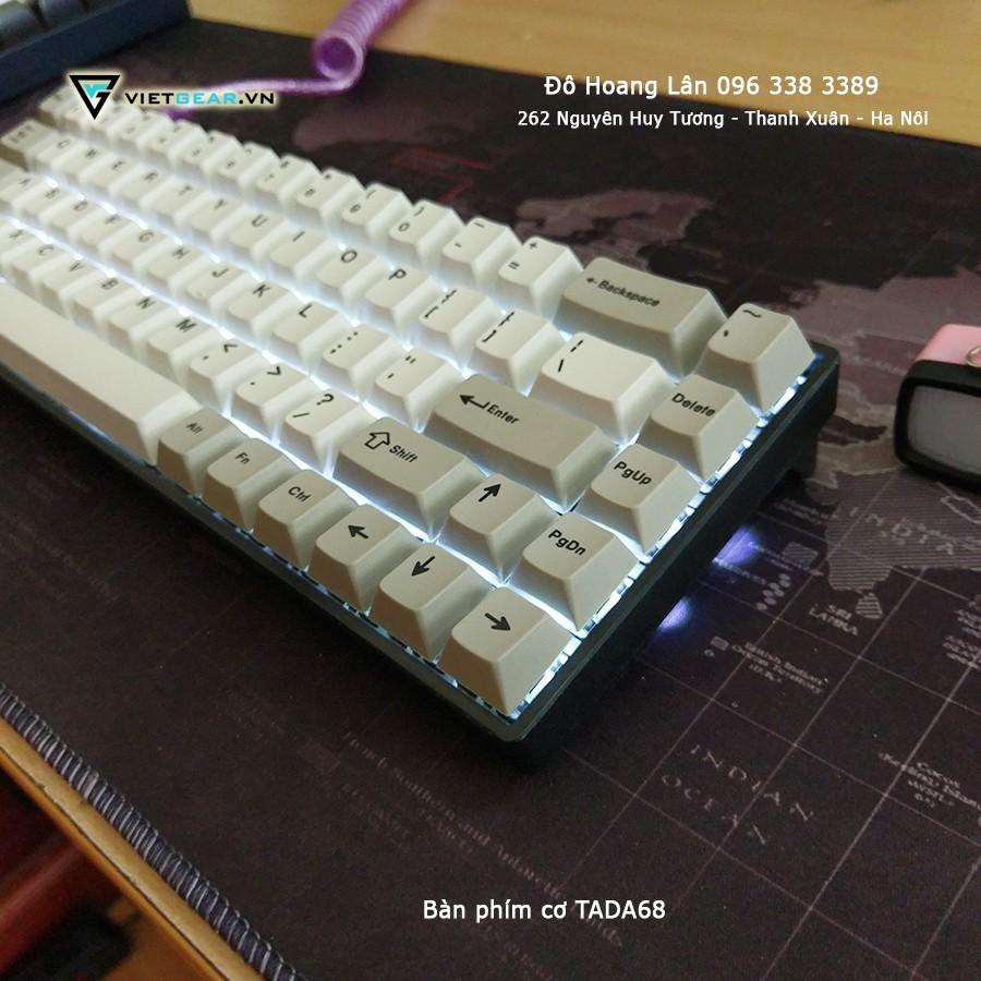 [Freeship toàn quốc từ 50k] Bàn phím cơ TADA68, black case, black gateron switch
