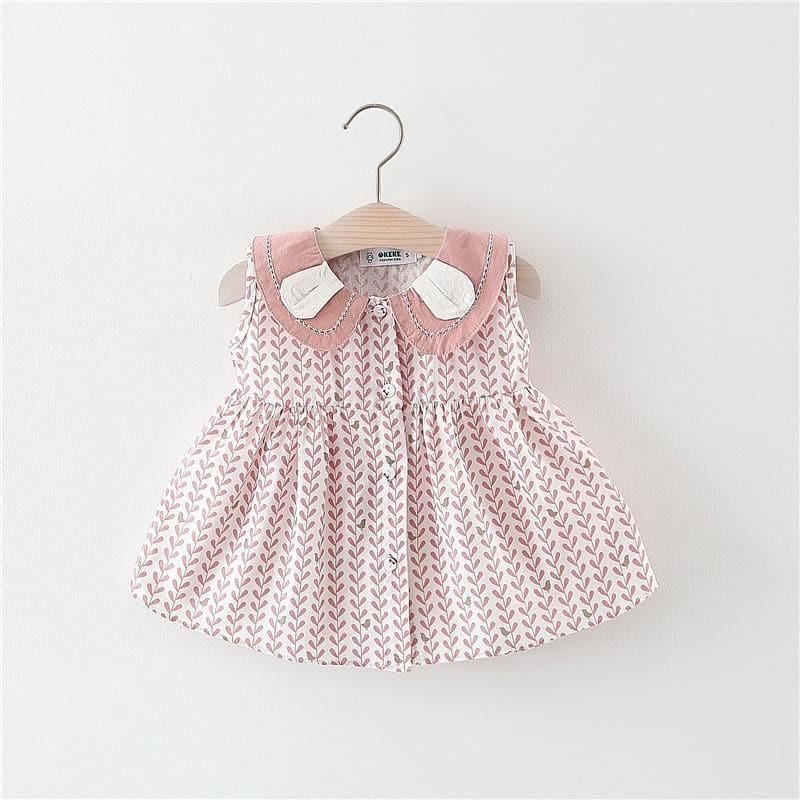 Váy Đầm Hồng Bé Gái Thỏ Dễ Thương 2019