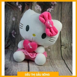 [THANH LÝ] Gấu bông lông mềm Oenpe hello kitty hồng đeo nơ