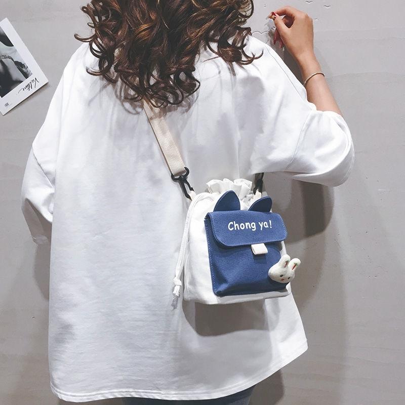 Túi đeo chéo vải canvas mẫu 2020 phong cách Hàn Quốc thời trang cho nữ