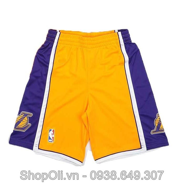 Quần bóng rổ Lakers NBA vàng