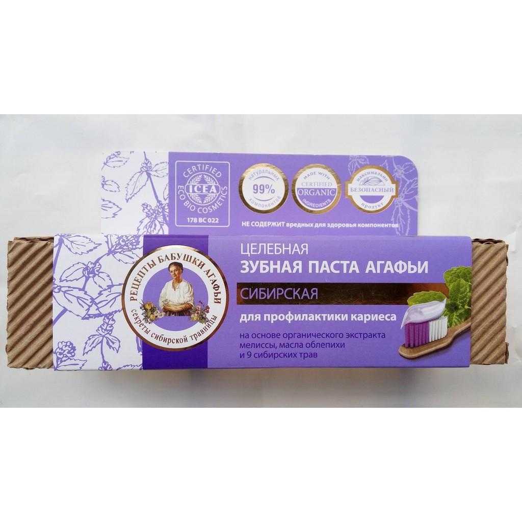 Kem đánh răng hữu cơ Nga vị bạc hà