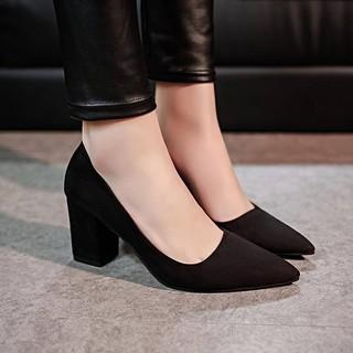 Giày cao gót da lộn 7,8cm - 6014 kèm tự chụp không chỉnh sửa