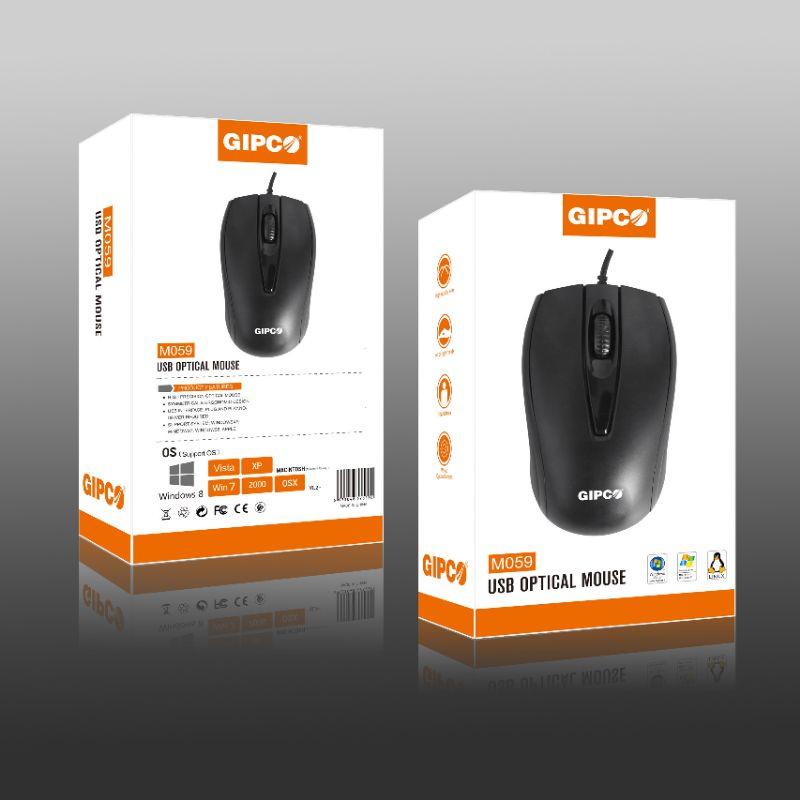 Chuột có dây Gipco M059 bền đẹp, rẻ