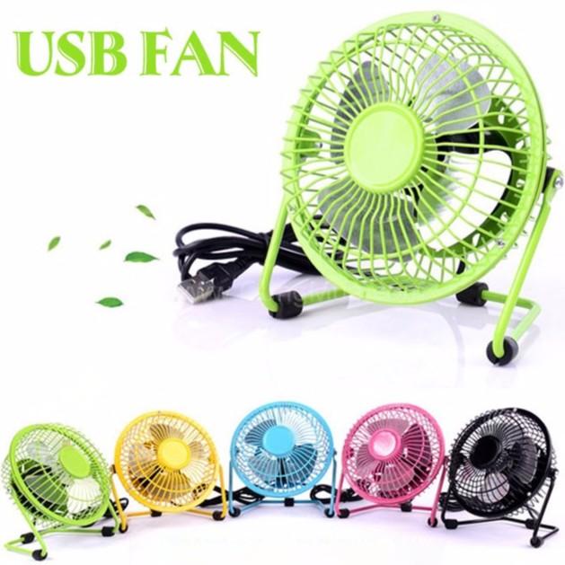 Quạt điện usb mini fan lồng thép mới nhất