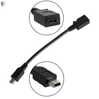 Yy USB 2.0 Mini 5-Pin Male to Micro Female Adapter Cable 15cm @VN