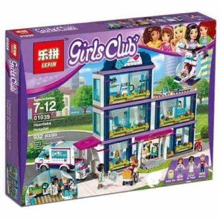 Lắp ráp kiểu Lego friends – lepin girl club bệnh viện lớn thành phố