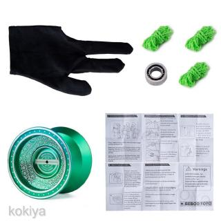 Professional Aluminum Alloy YoYo Ball +3 Strings +1 Glove +1 Bearing Toy