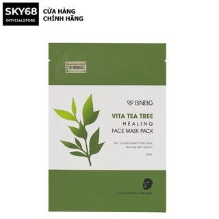Mặt nạ thải đôc, giảm mụn chiết xuất tràm trà BNBG Vita Tea Tree Healing Face Mask Pack 30ml